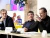 1. srečanje. Blaž Peršin, Matevž Čelik, Jurij Krpan. Foto Matevž Paternoster